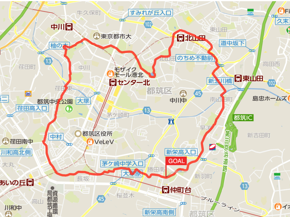 都築緑道マップ