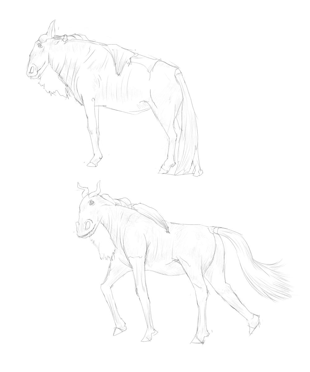 動物を見ずに描く