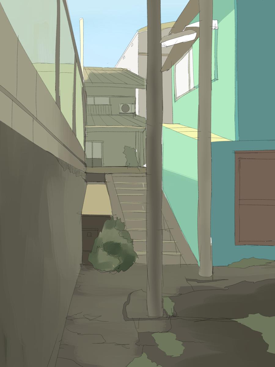 背景絵の模写