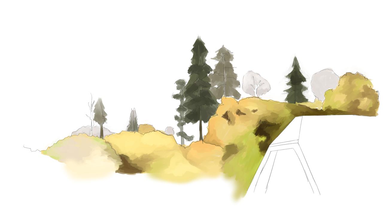 水彩画 プロの裏ワザ2の遠景樹木の描き方 塗り