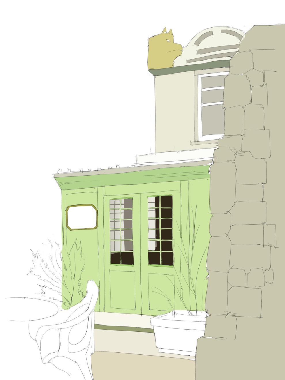 水彩画 プロの裏ワザ2の窓の描き方 塗り