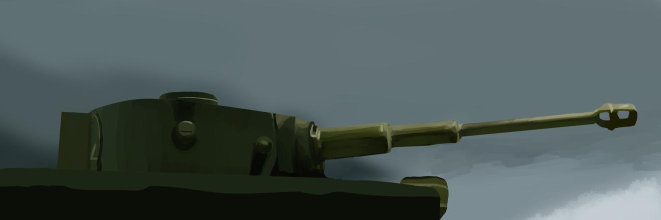 タミヤのMMシリーズの1/35のドイツ軍のティーガー戦車の砲塔を塗ってスケッチ