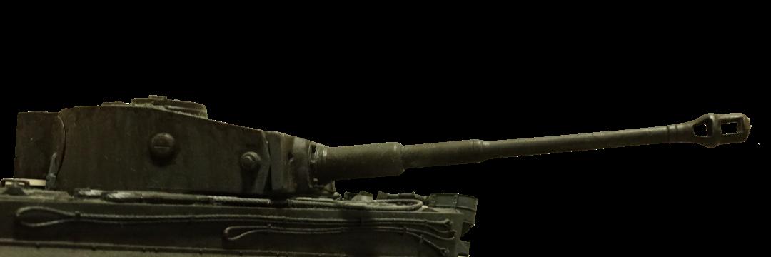 タミヤのMMシリーズの1/35のドイツ軍のティーガー戦車の砲塔の写真
