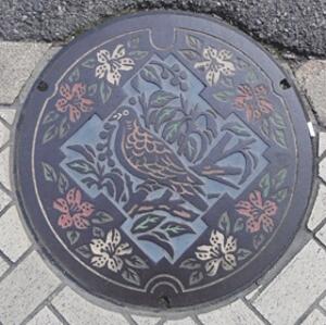 池田市マンホールの蓋blog01