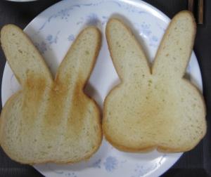 トースト ウサギパン