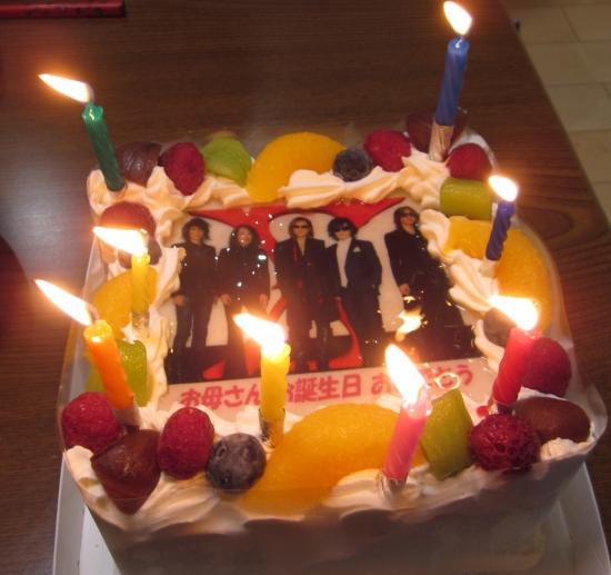 誕生日にサプライズケーキ