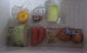 冷蔵庫野菜室の在庫