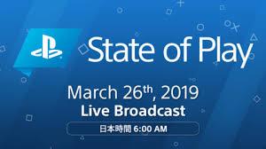 【ソニーダイレクト】PS4_PSVRの動画紹介番組『State of Play』3月26日放送決定!