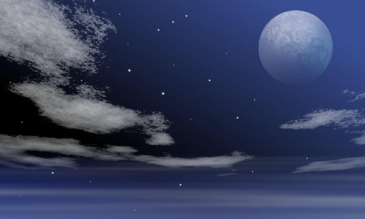 月の綺麗な夜のイラスト