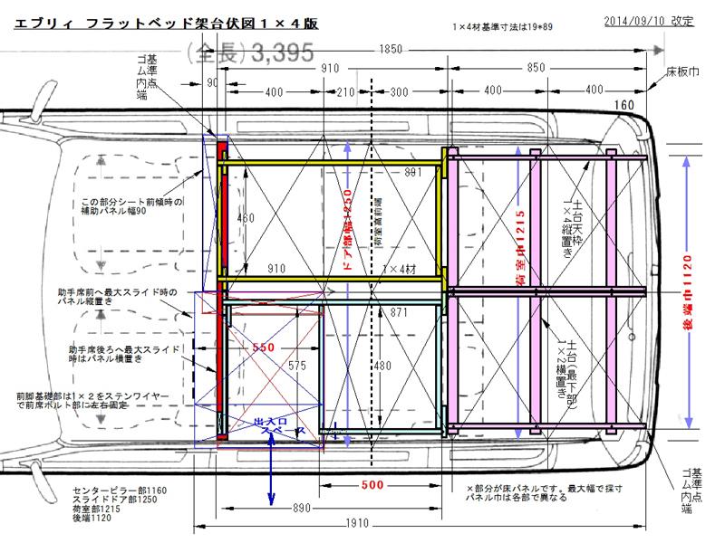 床設置平面図