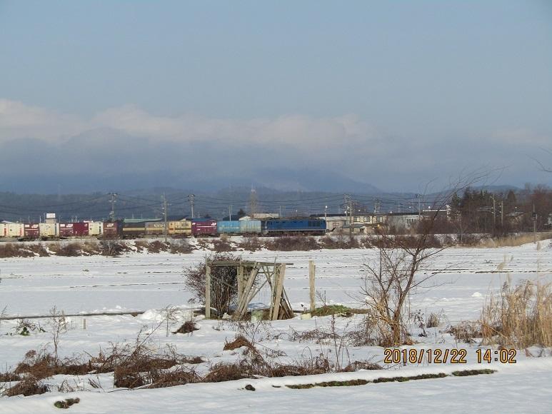 貨物列車雪原
