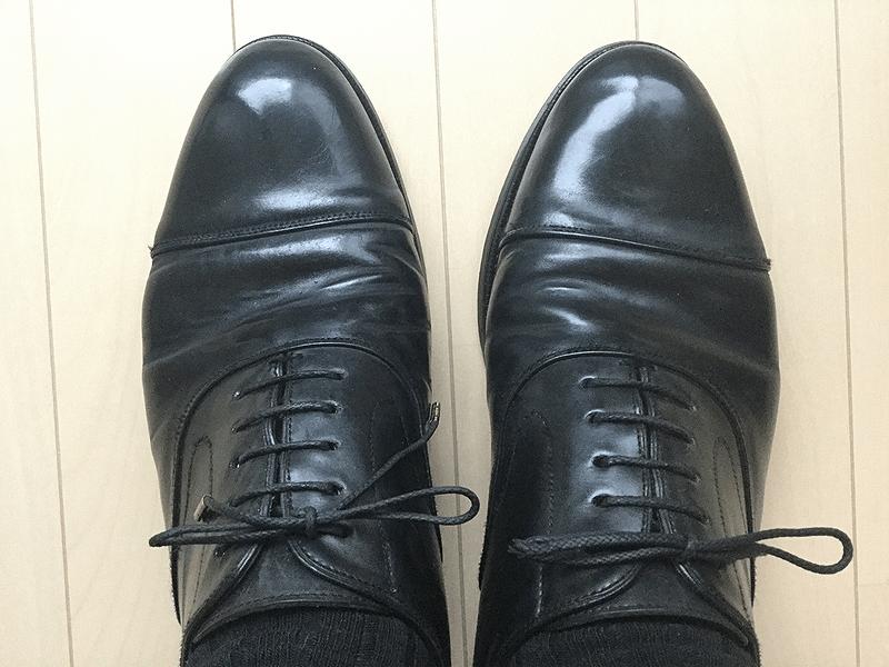 タンパッドで革靴のサイズ調整6