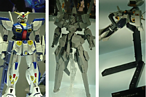「MG ガンダムF90」、「HG ハイゼンスレイⅡ」と「HG プリムローズ」t