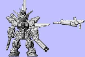 MOBILE SUIT ENSEMBLE 11、ガンダムXのシールドバスターライフル