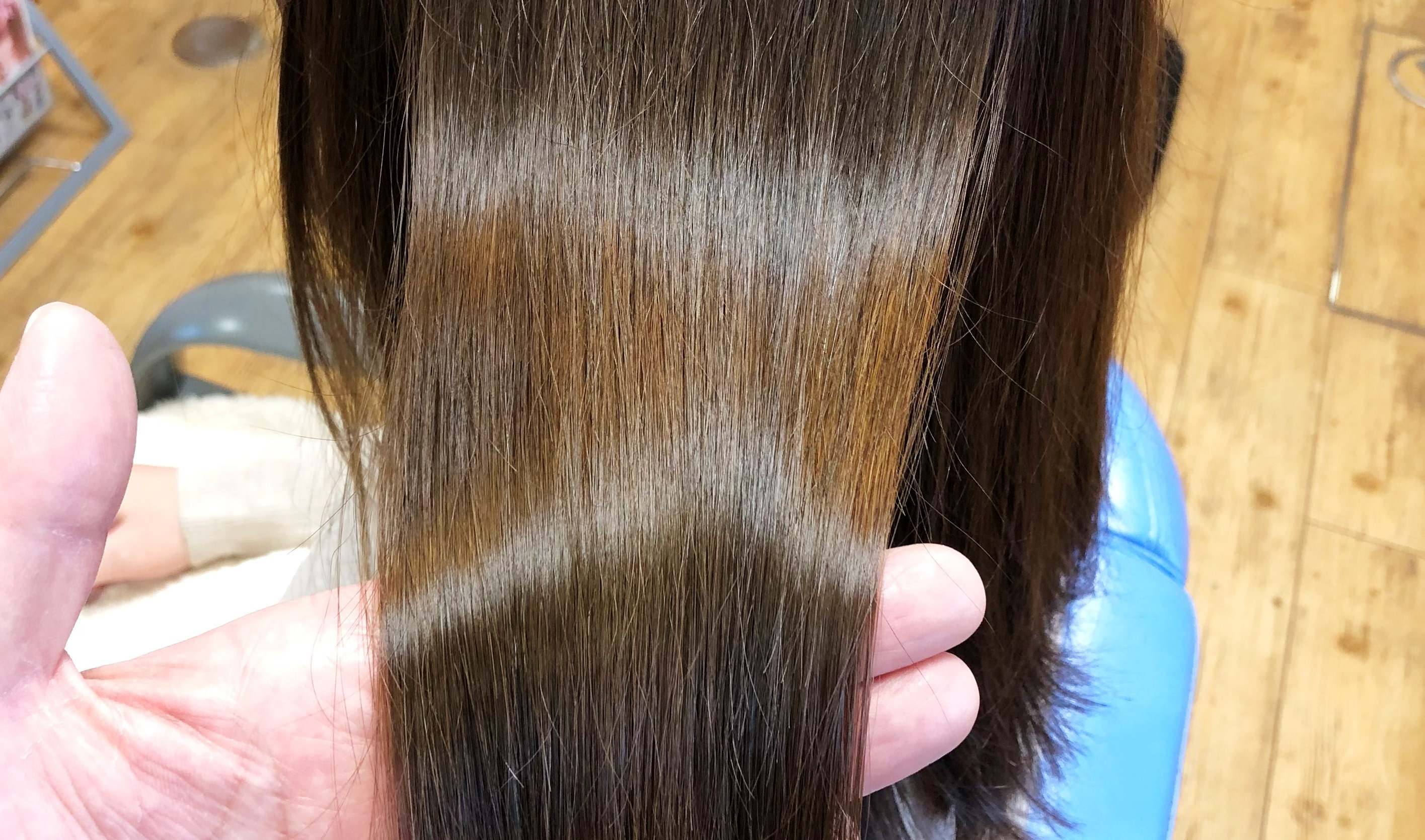 安曇野市で縮毛矯正か得意なお店のツヤ髪