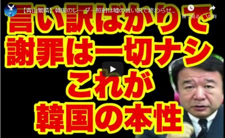 【動画】青山繁晴 韓国のレーダー照射は嘘の言い訳で終わらせてはいけない!!