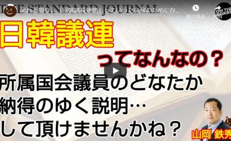 【動画】「日韓議員連盟」っていったい何のために存在してんの?所属してる国会議員の先生、誰か