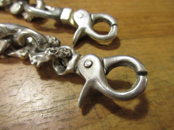 ウォレットチェーン金具の修理2