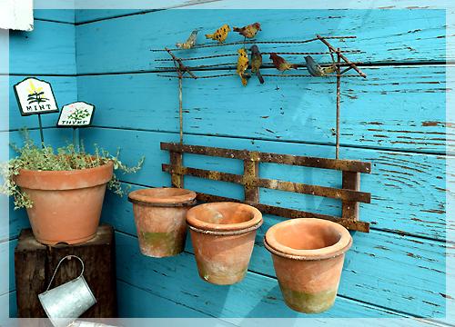 アイアン植木鉢ホルダー