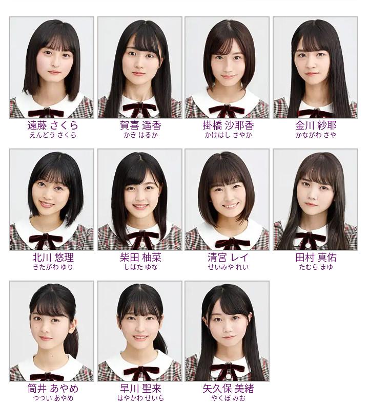 乃木坂4期生11人