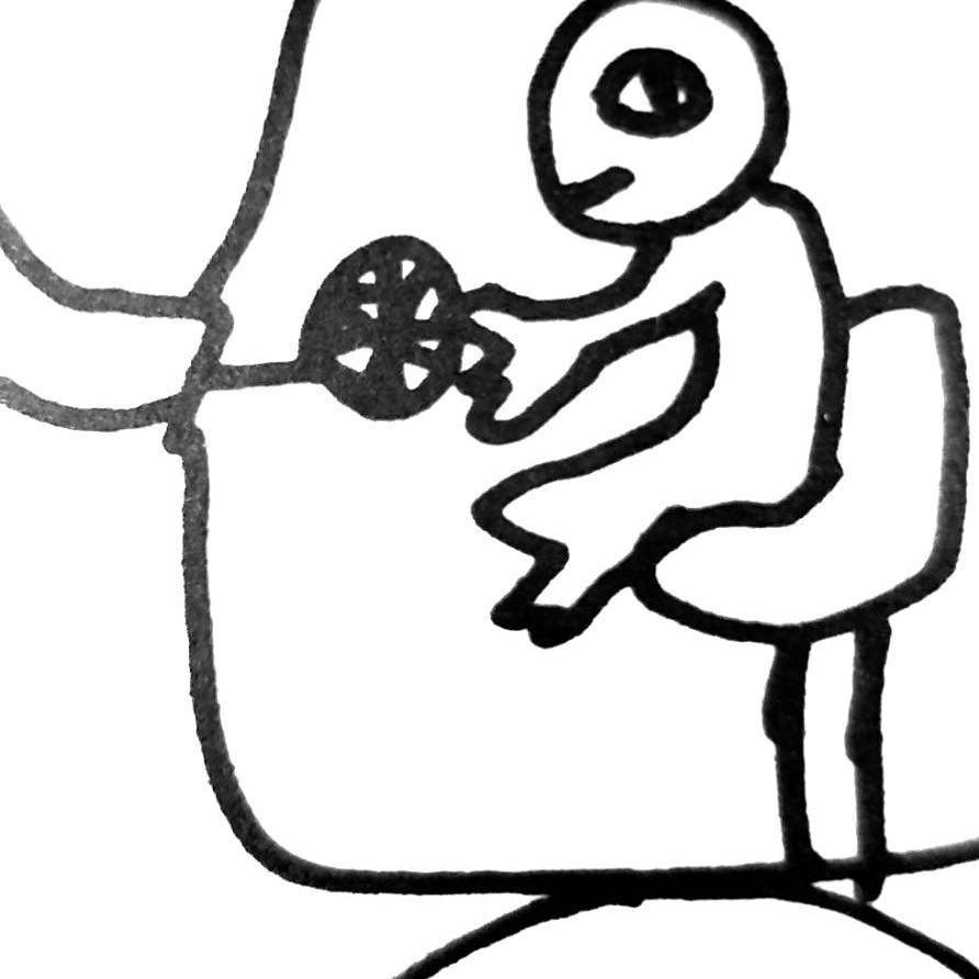 坂CAFÉ 生田画伯の描き下ろしコースター