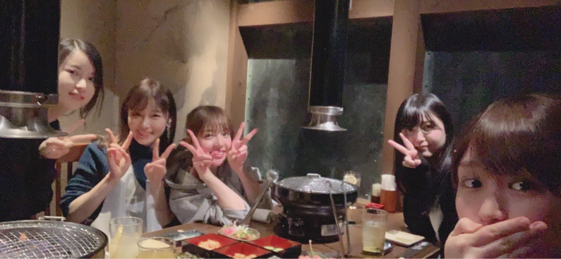 乃木坂46和田まあや、「ユニコーン」夜公演に来た高山・かりん・琴子・久保と焼肉