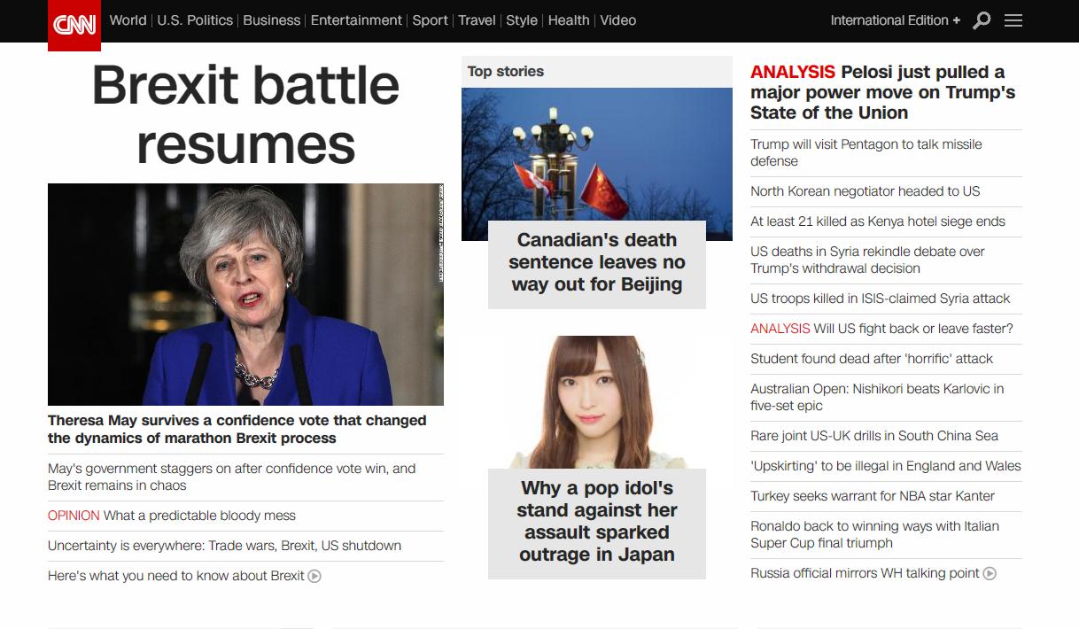 CNN、NGT48山口真帆暴行事件をトップで報道