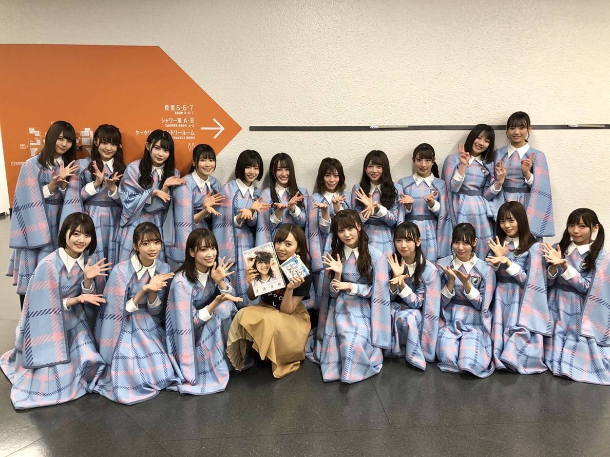 乃木坂46新内眞衣+けやき坂46「ALL LIVE NIPPON 2019」集合写真