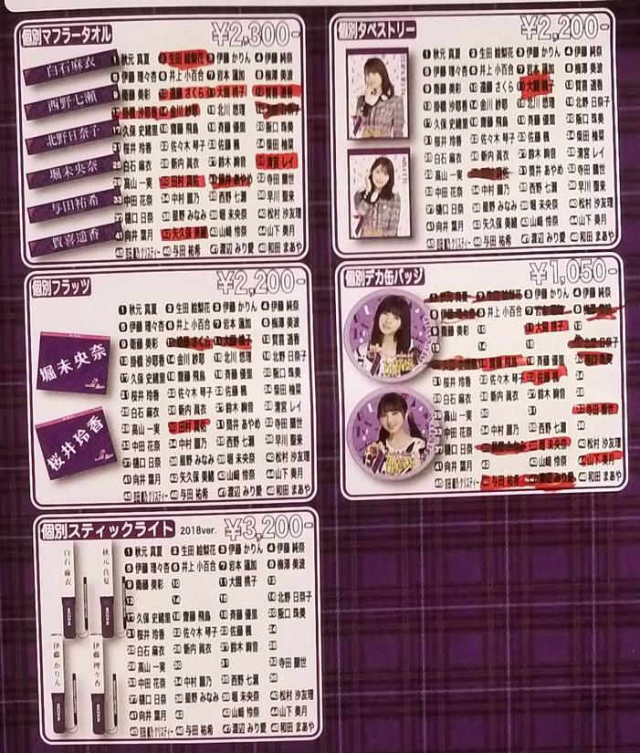 【乃木坂46】幕張メッセでの7thバスラグッズ事前販売 UP