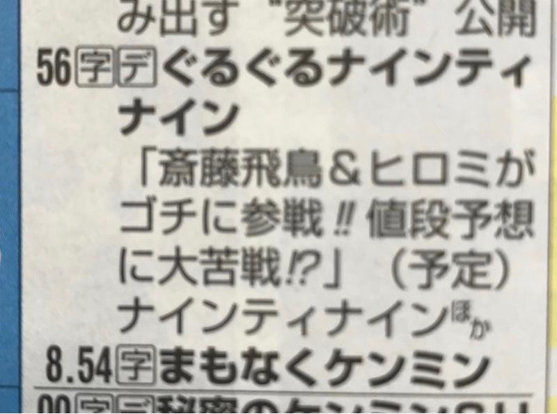 齋藤飛鳥&ヒロミがゴチに参戦!!値段予想に大苦戦!?