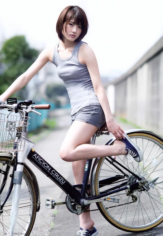 若月佑美 自転車