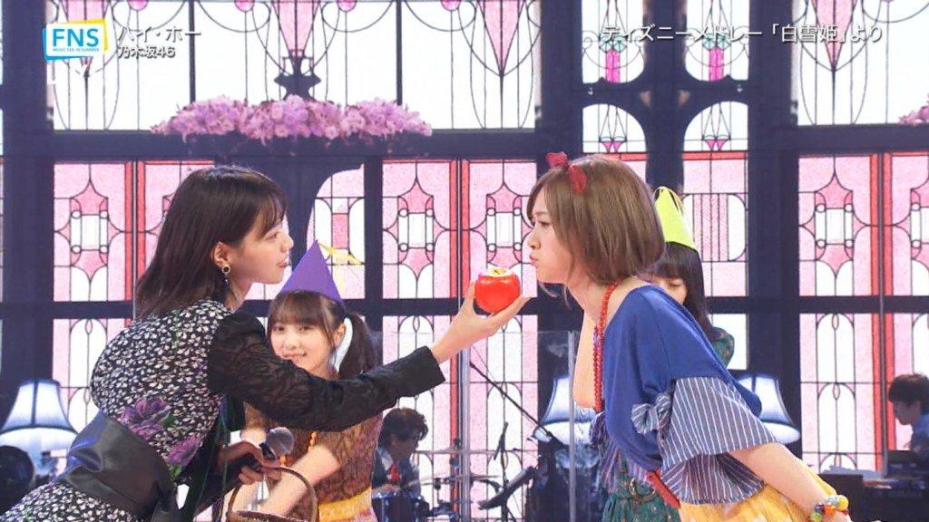 7/24放送「2019FNSうたの夏まつり」で乃木坂46が子供たちと一緒に「ジャンボリミッキー!」を地上波初披露