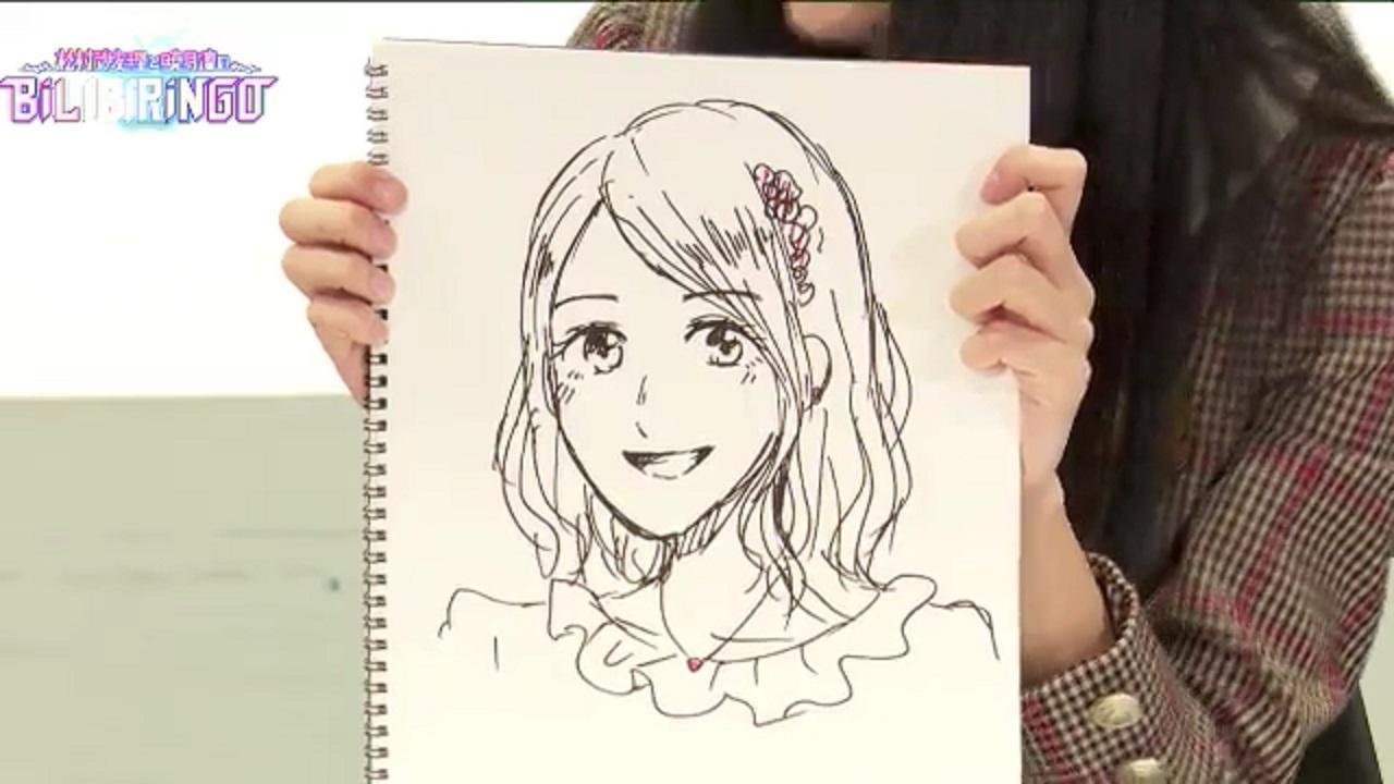 【BiLiBiRiNGO】乃木坂46賀喜遥香が描いた松村沙友理
