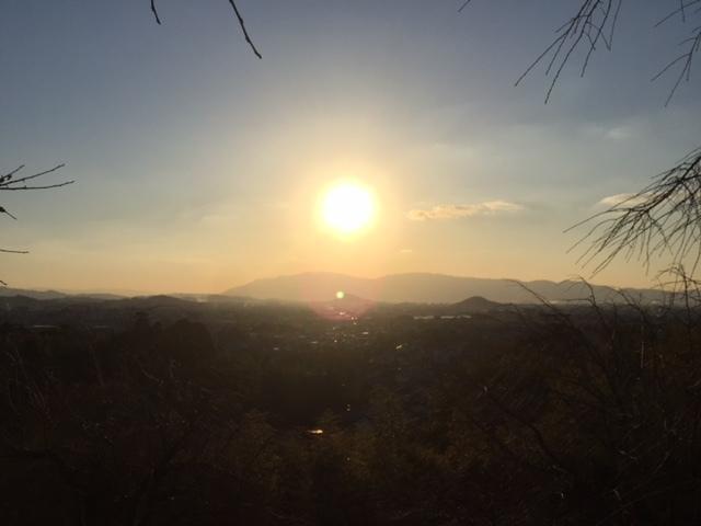 三輪山の夕陽