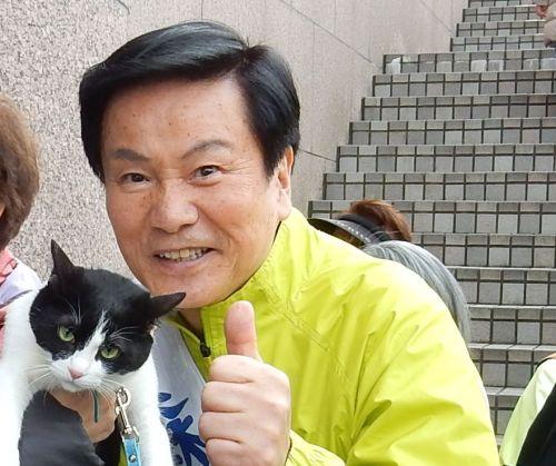 500 森田健作知事と猫ジャンヌダルク