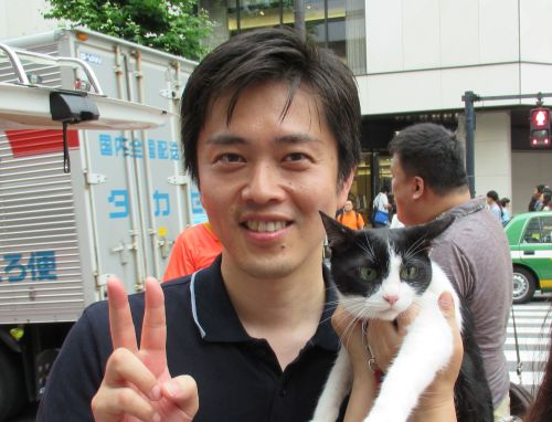 500 大阪府 吉村洋文知事 とロビイスト猫ジャンヌダルク