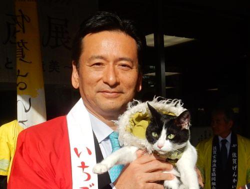 500 佐賀県山口祥義知事 とロビイスト猫ジャンヌダルク