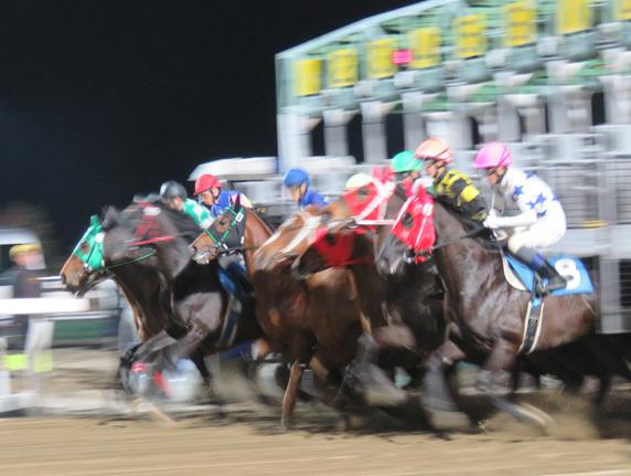 門別夜のレース2