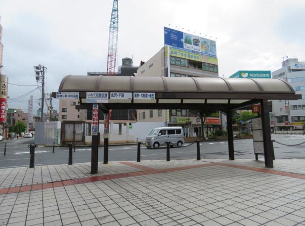 無料バス乗り場