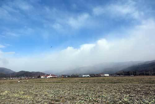190109吹雪く山