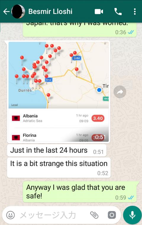 アルバニア・ティラナ近郊で地震2