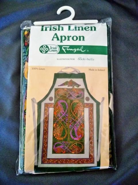 アイルランド製アイリッシュリネンのエプロン1