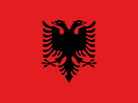 アルバニアの国旗です