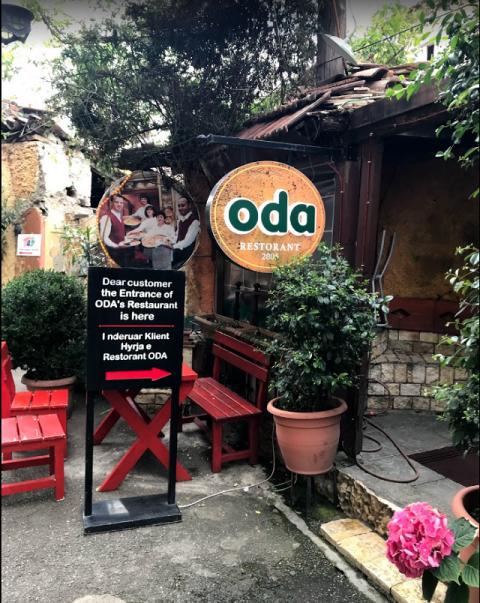 ティラナの人気レストランOda1