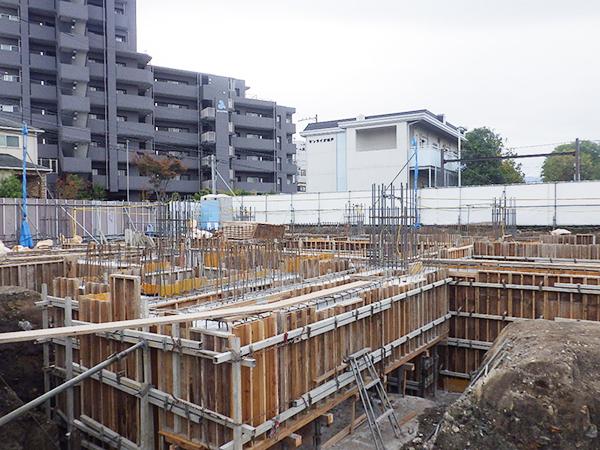 2018/11/16 基礎・地中梁コンクリート打設完了
