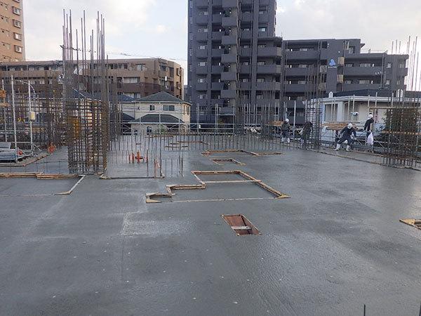 1階躯体コンクリート打設完了