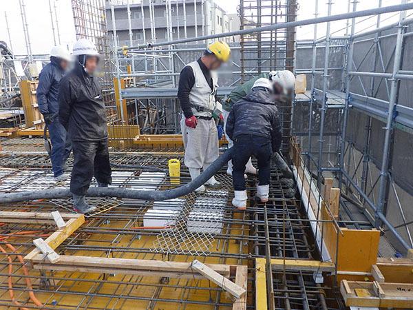 20190212_2階コンクリート打設状況