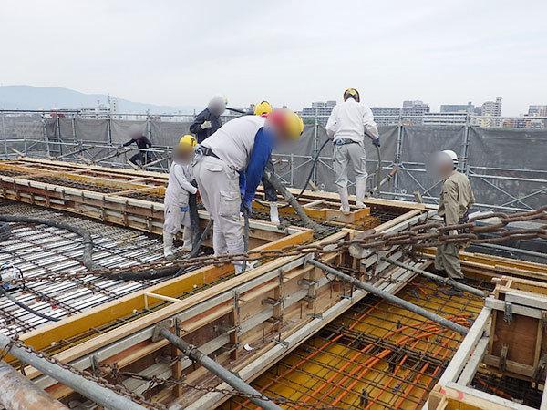 2019/05/09 7階躯体コンクリート打設状況