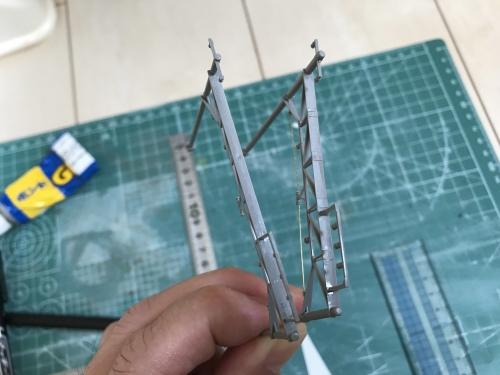 KATO複線架線柱 架線準備工事 (4)