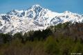 残雪の五龍岳